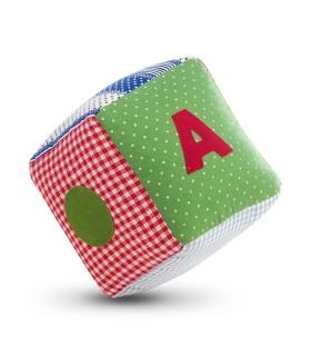 Jucarie Textila Red Cube 10 x 10 cm