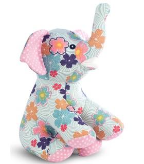 Jucarie Textila Floral Elephant 24 x 17 x 11 cm